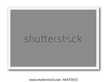 A blank frame ready to insert a photo or to create a photo collage. Frame ratio is 3:2 - stock photo