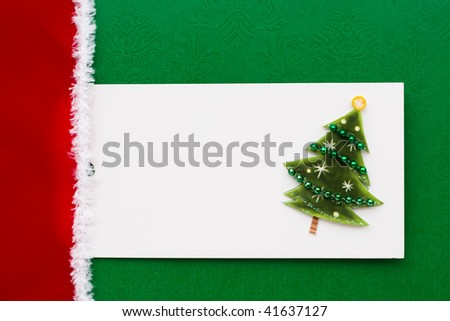 A blank gift tag sitting on a wrapped present