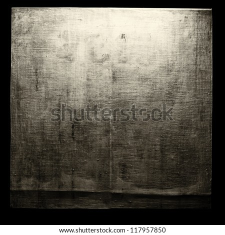 A blank grungy canvas texture - stock photo