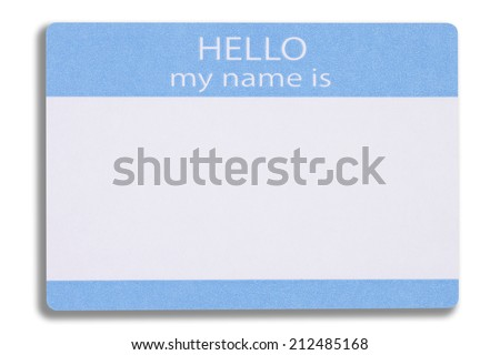 A Blank Name Badge - stock photo