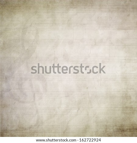 A blank page of sheet music - stock photo