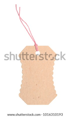 A blank tag isolated