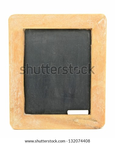 A blank vintage chalkboard blackboard with copy space