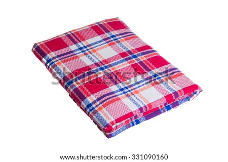 a blanket isolated on the white background