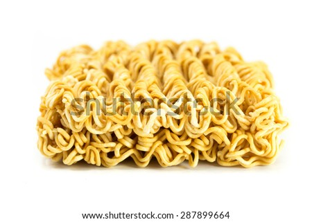 A block of dried Instant noodles