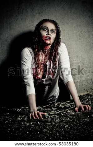 Stock Images similar to ID 95201338 - portrait of a gory ...