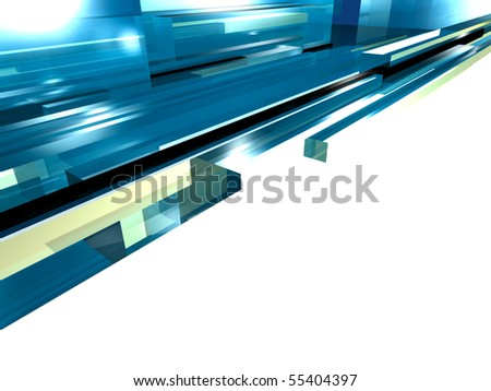 A blue abstract glass background - stock photo