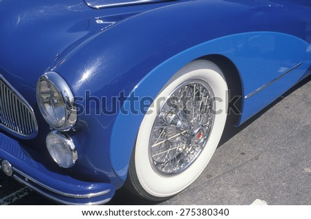 Blue Antique Car Beverly Hills Car Stock Photo Royalty Free - Beverly hills car show