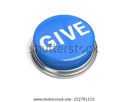 A blue button with the word give on it