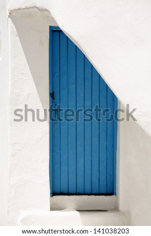 A Blue Door in a Mykonos House