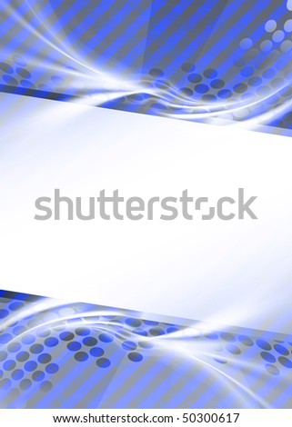 A blue graphic template great for an ad or magazine editorial layout with lots of copyspace for your text or images. - stock photo