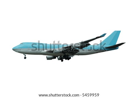 A blue jumbo on a clean white background - stock photo