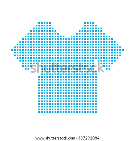 A Blue Mosaic Icon Isolated on a White Background - Mens TShirt