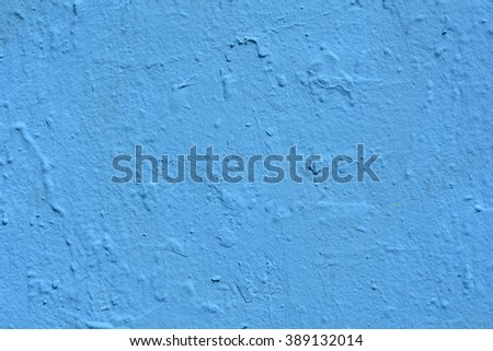 a blue painted wall background - stock photo
