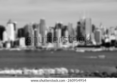 A blurred background image B&W from NYC