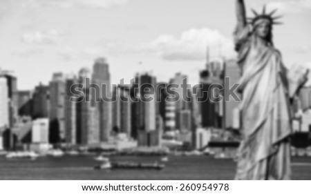 A blurred background image B&W from NYC - stock photo