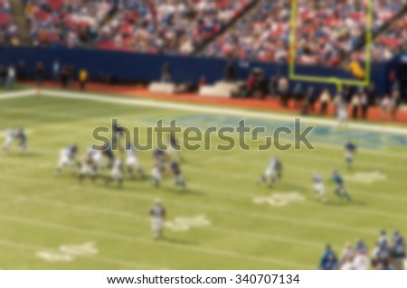 A blurred out of focus background effect, New York, American Football Game - stock photo
