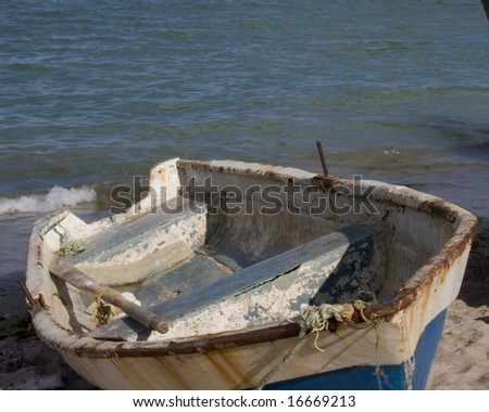 A boat on a beach from romania seaside