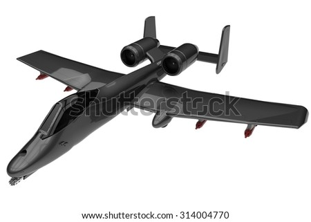 A 10 Bomber with front gun and missiles.