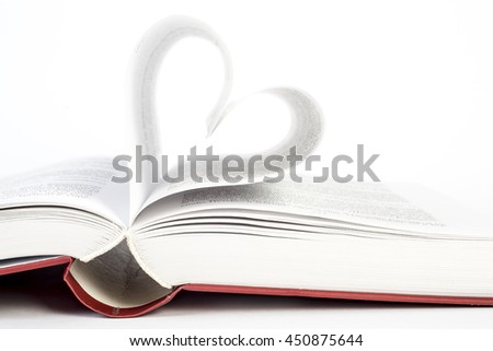 a book heart shaped
