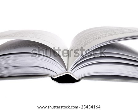 a book open for reading isolated on white