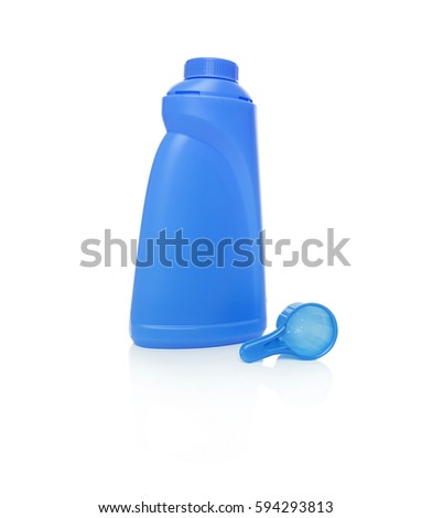 A bottle of detergent. Isolated on white background.