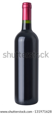 A bottle of red wine - stock photo