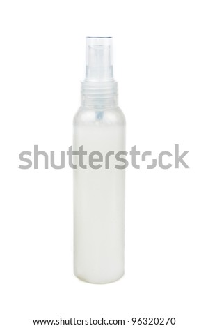 A bottle of shampoo. Photos isolated on white background - stock photo