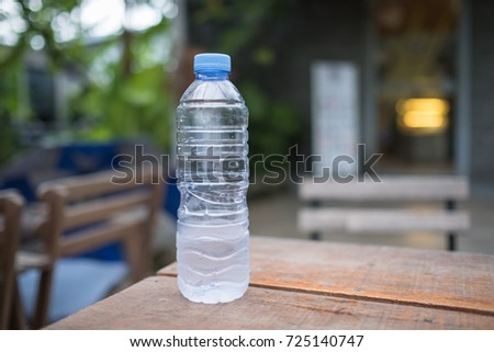 A bottle of water is placed on the table
