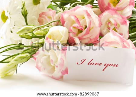 A Bouquet Of Beautiful Flowers On White Background