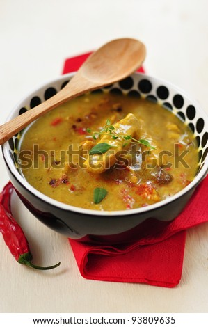 A bowl of  curry stew - stock photo