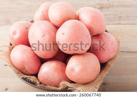 a bowl of red potatoes - stock photo