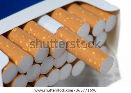 a box full of cigarettes / Cigarettes - stock photo