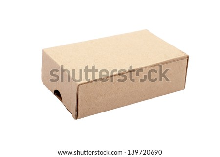 A box on a white background - stock photo