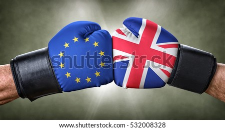 A boxing match between the European Union and the UK