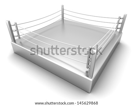 A Boxing ring. 3d illustration.