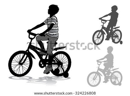 A boy rides a bike ride on the new