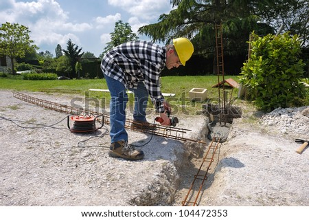 a bricklayer on a building site