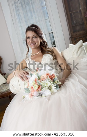 A bride preparing to be married