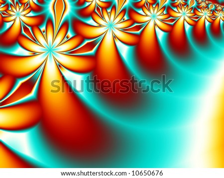 A bright and beautiful fractal background. - stock photo