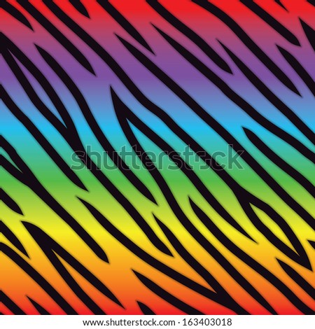 A bright multicolored tiger stripe background. Seamlessly Repeatable. Raster. - stock photo