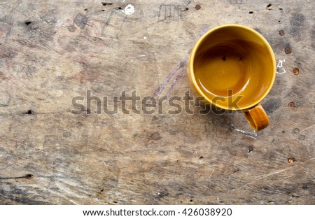 A brown cup on table