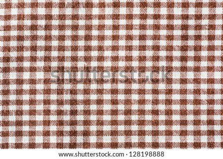 a brown fabric check, background - stock photo