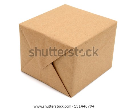 A brown package carton