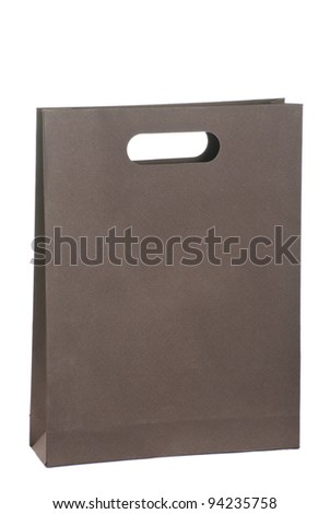 A brown paper bag for shopping - stock photo