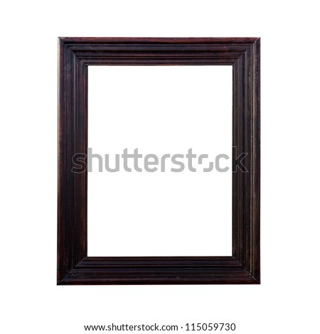 A brown picture frame, isolated with clipping path.