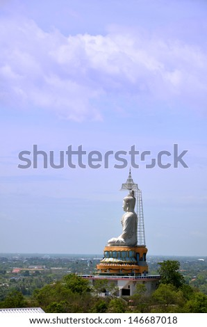 A Buddha statue in Ratchburi, Thailand - stock photo