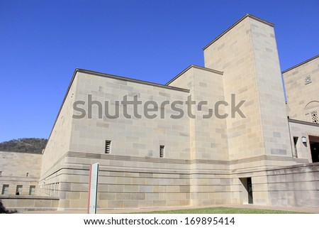 A building part in War Memorial in Canberra Australia - stock photo