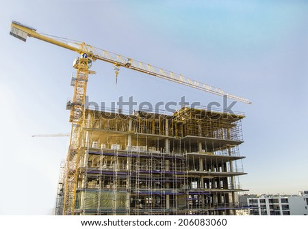 A bulletining Construction Site at Johannesburg SA  - stock photo
