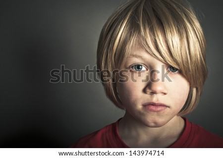 A bullied child - stock photo